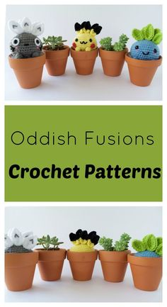 Make your own custom Oddish in these fun anime forms! Free Crochet Patterns
