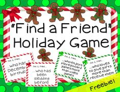 Relax, and let your students learn more about one another right before Winter Break! This is a gift from my classroom to yours! Enjoy!