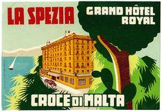 ITALY La Spezia - Hotel Croce di Malta   by Luggage Labels by b-effe