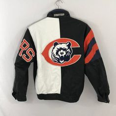 e6f770baa RARE Vintage Chicago Bears NFL Starter Leather Jacket Spellout