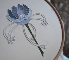 """★★★★★ """"Beautiful design and beautiful kit. Thank you. """" Julie C. https://etsy.me/2rGL26J #etsy #supplies #grey #embroidery #silver #goldwork #metalthread #embroiderykit #sewingkit #beginnersgoldwork Find the kit here: https://etsy.me/2GeH1e8"""
