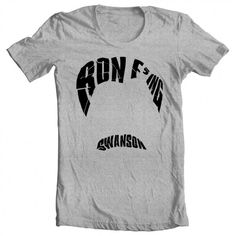 Men's Parks and Recreation Ron F'ing Swanson Tee - Gift idea for him - Father's Day gift - Handmade  - Made in America