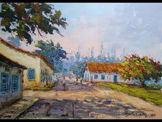 Pintando ao vivo - Casario Barra de São João-RJ (Beira Rio) - YouTube