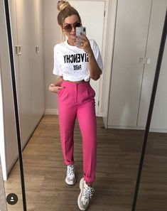 Trouser Outfits, Basic Outfits, Girly Outfits, New Outfits, Cool Outfits, Summer Outfits, Casual Outfits, Fashion Outfits, Womens Fashion