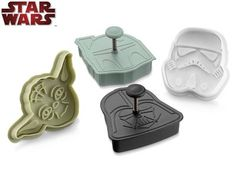 I'm gonna break out my awesome Star Wars cookie cutters from Williams-Sonoma to make treats for our Star Wars: Attack of the Author! party on April 20! Starts at 7 p.m. - armored troopers and prizes galore!