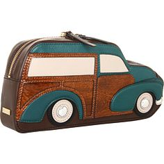 Kate Spade New York Knock on Wood Car Clutch -- When will I be independently wealthy? Wood Car, Knock On Wood, Novelty Bags, Kate Spade Clutch, Flat Color, Boutique, On Shoes, Coach Bags, New York
