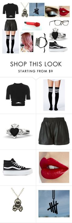 """""""Untitled #362"""" by kts-world ❤ liked on Polyvore featuring T By Alexander Wang, Missguided, Gemvara, Sea, New York, Vans, Sennheiser and Disney"""