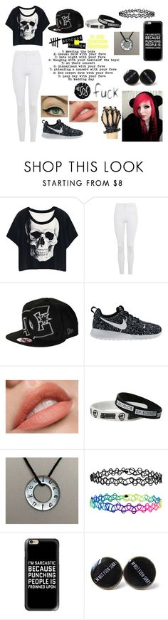 """""""5SOS 10 Day Challenge"""" by emo-lover152 ❤ liked on Polyvore featuring Topshop, DC Shoes, NIKE, Accessorize and Casetify"""
