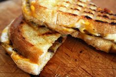 Grilled Cheese with Roasted Green Chiles ~ my family has been making this sandwich for years. In the fall we put up bushels of roasted green chile, peeled & seeded and then frozen. Having chiles ready all year round for this and many other uses! A quick way to roast is place whole chiles on a griddle or oven, roast, turning till the skin chars & blisters, wrap in wet paper towel, place in a paper bag to steam, pull stems & seeds out and peel the roasted skin. Ready to use♥