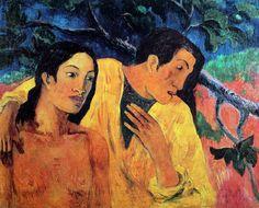 Paul Gauguin (1848-1903) was een Franse kunstschilder. Zijn werk wordt meestal gekenschetst als postimpressionistisch, dat van na 1891 als symbolistisch.De werken van Gauguin behoren tot het postimpressionisme. Zijn werk loopt vooruit op het ongebruikelijke kleurgebruik van de fauvisten en de expressionisten.