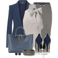 """Navy & Grey"" by ccroquer on Polyvore"