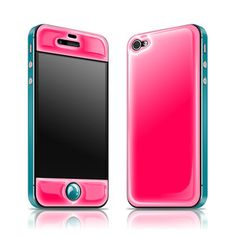 iPhone 4/4S Glow Gel Pink Teal now featured on Fab.