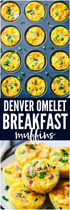 Denver Omelet Breakfast Muffins are such a great breakfast and perfect for making ahead or on the go! Loaded with Peppers, onions, ham and ooey gooey cheese, these will become a favorite!