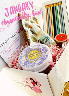 January's ChronicAlly Box! The first ever health & beauty box tailored to women living with chronic illness!