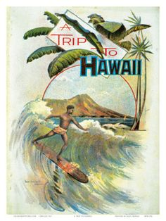vintage hawaiian posters   Decorate Your Home with Vintage Hawaiian Prints and Posters