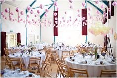 How to decorate a village hall for a wedding
