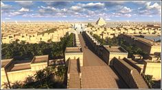 3D rendering of the ancient city of Babylon..