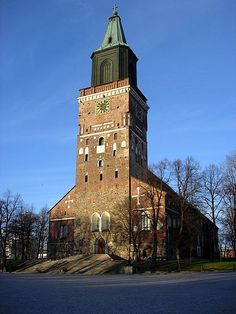Cathedral of Turku, Finland. Cities In Finland, Finland Travel, Visit Helsinki, Viborg, Romanesque Architecture, Cathedral Church, Exotic Places, Christian Church, Capital City