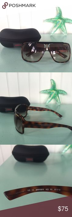 Carrera Sunglasses Super cute and stylish tortoise shell sunglasses! These shades will look great at the beach or by the pool this summer! These are authentic Carrera sunglasses! Please don't hesitate to ask any questions! Buy now before they're gone! Carrera Accessories Sunglasses