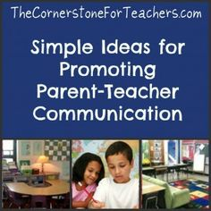 parent teacher communication ideas