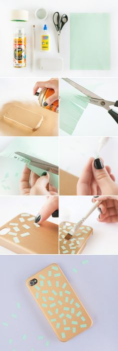 DIY Confetti iPhone case