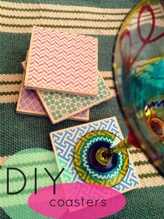 Adorable DIY coasters... great for a housewarming gift!