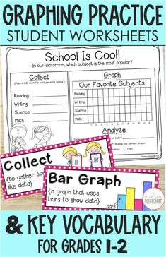 Tally Chart, Graphing Worksheets, Math Vocabulary, First Grade Teachers, Bar Graphs, Picture Cards, Elementary Math, Grade 1, Kids Learning