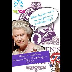 As if you guys need reminding..... But in case you do our #midweekmadness offer is on all day until we close at 7pm!  #FroYo #frozenyogurt #midweekmadness #thequeen #royality #royalbirthday #hoylake #liverpool #wirral by theyogbar
