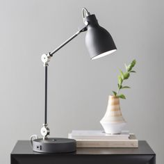 Latitude Run Barth Desk Lamp Finish: Black Led Desk Lamp, Room Lamp, Tripod Lamp, Small Desk Lamp, Desks For Small Spaces, Torchiere Lamp, Living Room End Tables, Table Lamp Sets, Diffused Light