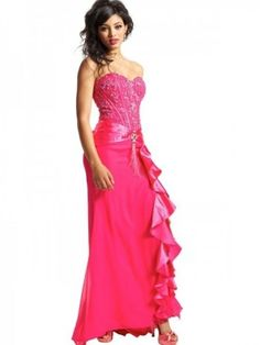 A-line Sweetheart Beading Gorgeous Sleeveless Floor-length Chiffon Prom Dress