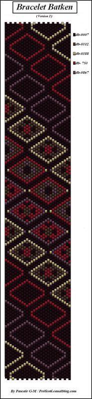 Bracelet Batken ( 4 versions ) - perlicoti-peyote