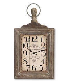 Light Brown Wall Clock by Melrose #zulily #zulilyfinds