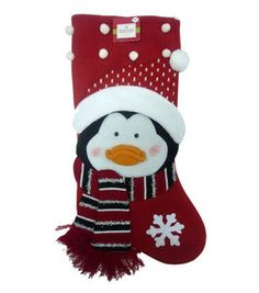 penguin stocking stockings holders tree skirts christmas decor holiday party