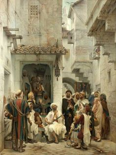 The Bengala Player (Guillaume Charles Brun - ) Art Arabe, Culture Art, Arabian Art, Islamic Paintings, Old Egypt, Academic Art, Historical Art, A4 Poster, Arabian Nights