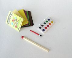 Miniature+watercolors+for+dolls+by+TOYJAN+on+Etsy