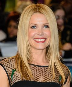 Melinda Messenger Long Straight Formal Hairstyle - Light Blonde | TheHairStyler.com