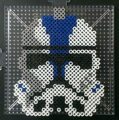 Star Wars Clone Wars: Clone Trooper helmet perler beads by sanzosgal