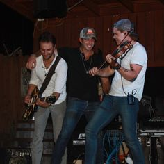 Josh Bryant, Craig Strickland and Eric Dysart from Backroad Anthem ROCKIN IT!!!