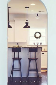 Nice and bright kitchen , and the lighting