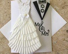 Carte de mariage fait main