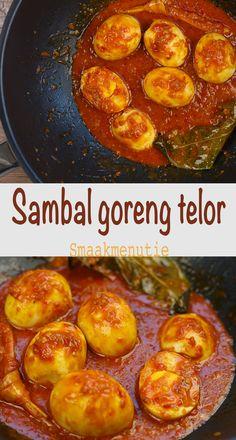 Egg-fried Sambal - Lilly is Love Chicken Snacks, Chicken Recipes, Sambal Recipe, Asian Recipes, Healthy Recipes, Indonesian Cuisine, Indonesian Recipes, Malaysian Food, Malaysian Recipes