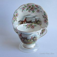 Royal Albert JOHN PEEL Bone China Tea Cup and Saucer-Countess Shape by LauriesFineChina on Etsy https://www.etsy.com/ca/listing/267333154/royal-albert-john-peel-bone-china-tea