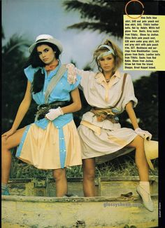 Glossy Sheen: A Taste for the Tropics - Dolly July 1983