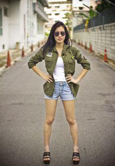 Soldier jacket ( look army gal )