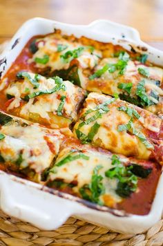 Make a healthier and gluten-free version of lasagna with this lightened up zucchini and eggplant lasagna. | livinglou.com