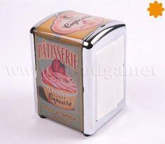 Servilletero Dispensador con capacidad para más de 100 servilletas de papel y con 40 de regalo para la demostración Cupcake