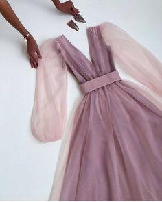 Fashion • Instagram Egirl Fashion, Fashion Outfits, Fashion Design, Simple Dresses, Pretty Dresses, Maxi Dress With Sleeves, Dress Up, Fashion Drawing Dresses, Mauve Dress