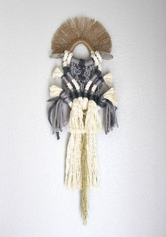 """Macrame Wall Hanging """"Horizon no.2"""" by HIMO ART, One of a kind Handcrafted Macrame/Rope art"""