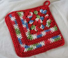 Ravelry: Project Gallery for Granny Corner Dishcloth pattern by Lily / Sugar'n Cream