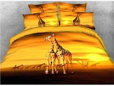 Leopard Print Bedding, Animal Print Bedding, Giraffe Room, Giraffe Decor, Queen Size Canopy Bed, Queen Duvet, Full Duvet Cover, Comforter Cover, Horse Bedding